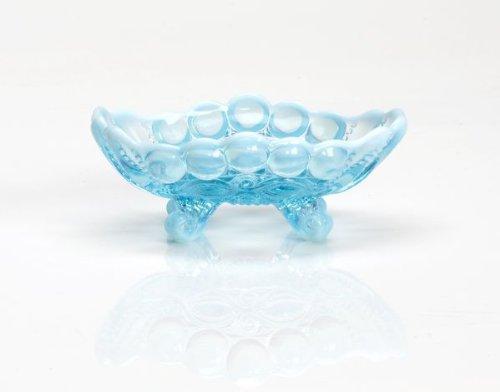 Mosser Glass Tortenständer Eye WINKER (begriffsklärung) Opal Oval Candy Gericht aqua Blue Glass Candy Dish