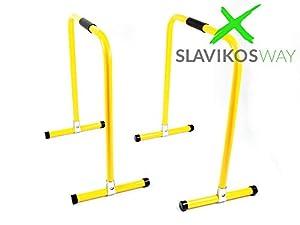SlavikosWay Paar Dip Station Barren Fitness Parallettes 73x61cm Calisthenics...