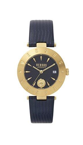 Versus by Versace Reloj Analogico para Mujer de Cuarzo con Correa en Cuero VSP772218