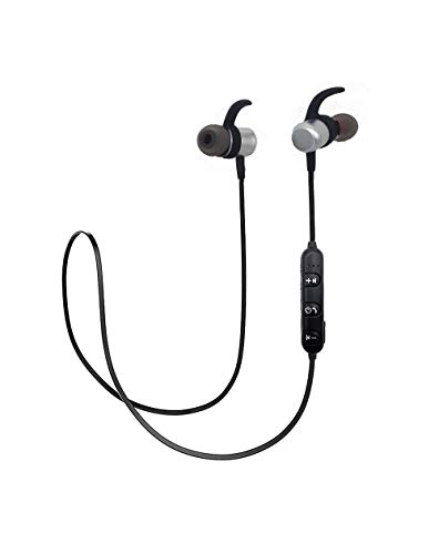 Lumy cuffie auricolari bluetooth sport 4.2v wireless stereo in-ear cvc audio di qualità (argento)