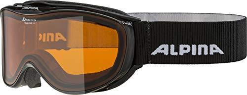 ALPINA Unisex- Erwachsene Challenge 2.0 DH' Skibrille, Black transparent, One Size