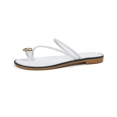 zhENfu donna pantofole & amp; flip-flops luce estiva suole similpelle Abito casual Chunky Tacco a piedi di strass Burgundy