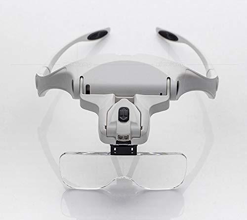 Leselupen HD Ophthalmische medizinische Lupe mit Brille mit hochauflösenden Augen mit Brille auf den Augen Lesehilfen