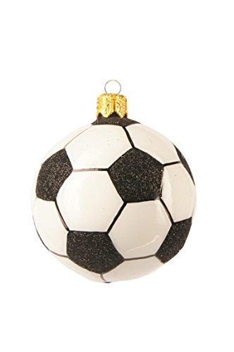 Unbekannt Christbaumschmuck Figuren Sport (Fußball klein 5cm) Weihnachtskugeln Weihnachtsbaumschmuck Christbaumkugeln Deko Glas