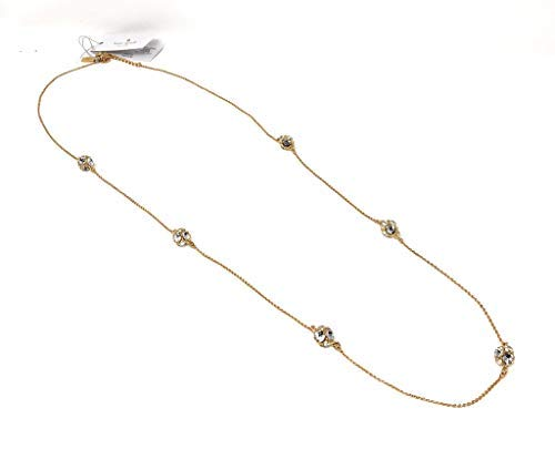 Designer kate spade New York NY Lady Marmalade Clear Crystal Gold Necklace