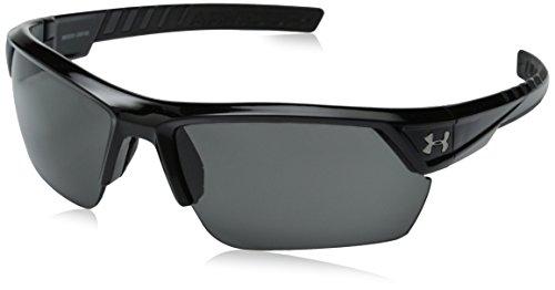 Under Armour Damen Sonnenbrille blau blau Einheitsgröße, unisex, Shiny Black / Black / Grey, Einheitsgröße