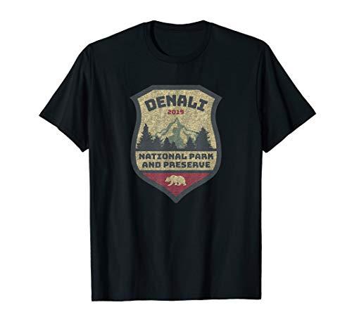 Mt. Denali Camp Hike Climbing Alaska National Park Souvenir T-Shirt -