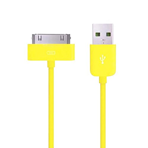 TheMax High Speed USB 2.0 Daten-Ladekabel für iPhone 3 G/3 GS/4/4S, iPad 1./2./3. Gen, iPod 3./4./Classic/iPod Mini/iPod Nano 1./2./3./4./5. Gen, iPod Touch 1./2./3. 2 Meter gelb -