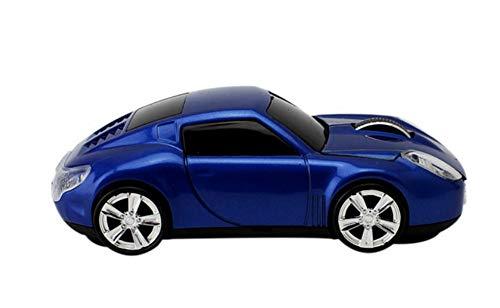 Maus Mouse 2.4G drahtlos Kreative Porsche Sportwagen Auto Maus Umweltfreundliches ABS-Material 112 * 55 * 38mm Geschäftsbüro Notebook 10 Meter Drahtlose Stabile Übertragung (Blau)