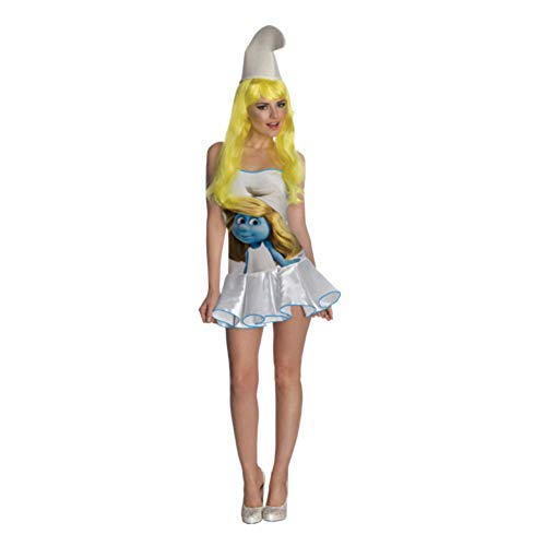 Kostüm Smurf Adult - SmurfetteTM Dress (The SmurfsTM) - Adult Costume Lady : X SMALL