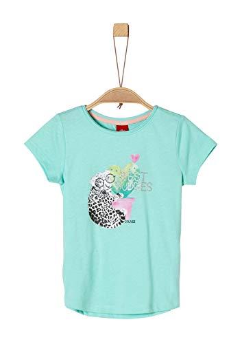 s.Oliver Mädchen 53.904.32.5632 T-Shirt, Türkis (Mint 6117), 92 (Herstellergröße: 92/98/REG) -