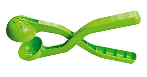 Jamara- 460397-Snow Play Bolas 38cm Suaves, Diámetro de 7 cm Pinza Pelotas Nieve, Color Verde (460397)
