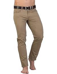 Mens Stretch Slim Fit CHINOS JSM248 - beige par GEAR