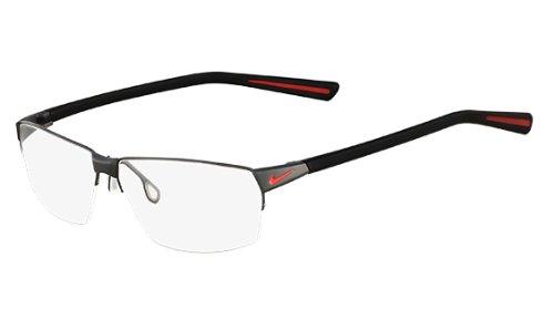 Preisvergleich Produktbild NIKE Brillengestell 8110 060 Dark Gunmetal Red 59MM