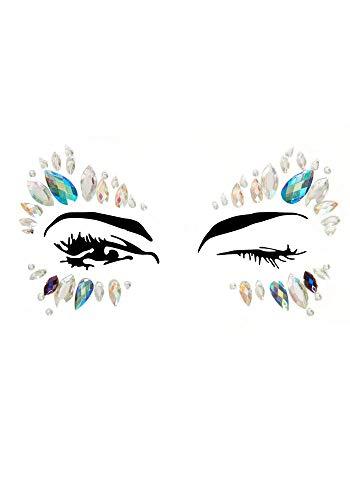 hmucksteine fürs Gesicht Strass Juwelen Glitzersteine Glitter Edelsteine für Festival Party Shows Karneval, Variante:Augen Türkis ()