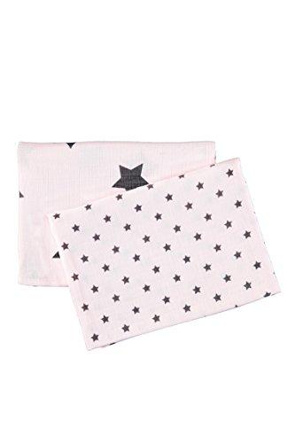 BELLY bellybutton-ausstattung Unisex, Halstuch, Set 2tlg. Mulltcher, Rosa (cradle Pink 2994), 0