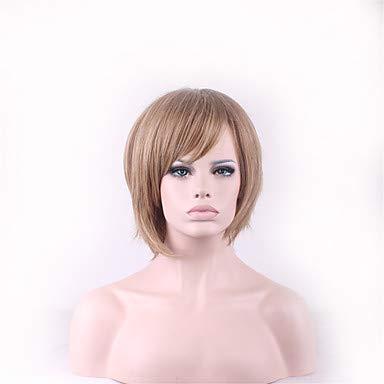 FUHOAHDD natürliche Rihanna perucas pelucas Perücke für Schwarze Frauen Geschlechtsprodukte synthetische Haarperücken Perruque Frisuren kurz, Blonde (Halloween Blonde Perruque)