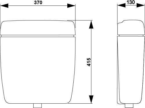 Schwab Aufputz-Spülkasten 170, mit Start-Stopp-Funktion