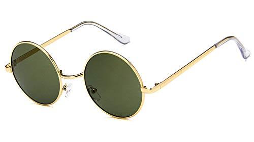HUWAIYUNDONG Sonnenbrille Die Hälfte Metall Vintage Tee Klare Klassische Sonnenbrille Herren Designer Gläser Spiegel Sonnenbrille Brillen Uv400