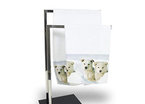 Set de serviettes et serviettes de bain en impression numérique ligne Natural Life chien Telo Bagno Cane
