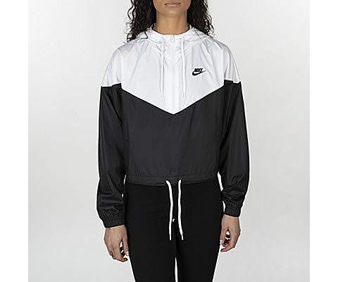 Nike Damen W NSW HRTG JKT WNDBRKR Jacket, Black/White, S