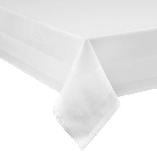 iß - 130 x 280 cm - bei 95°C waschbar (Weiße Tischdecke)