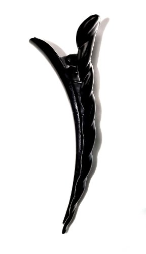Black Twist Concorde Hair Clip Beak Clips (Black) by Shropshire Supplies