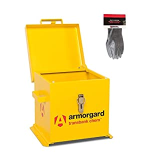 Armorgard TransBank Secure Chemical Storage Box and Safety Gloves (TRB1C (Small))