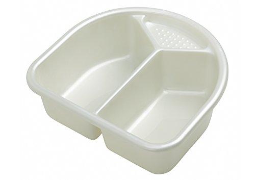 Rotho Babydesign 20006 0100 Top - Palangana con 2 compartimentos, color blanco perlado