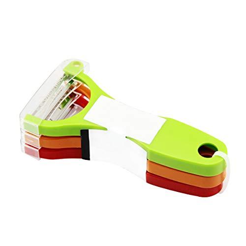BigBig Style 3 Stücke Multifunktions Edelstahl Peeler Set Obst Gemüse Slicer Shredder Cutter Küchenwerkzeug Offset-slicer