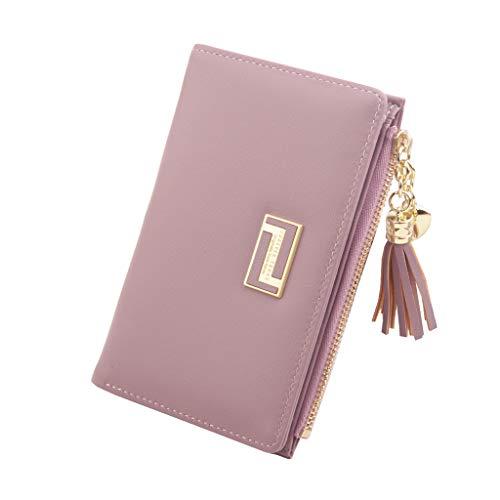 Damen Geldbörse,BESTSHOPE Frauen Brieftasche Mädchen Portemonnaie Mini Card Case Wallet Faltbare Kurzer Reißverschluss Täschchen Kartenbeutel Einfache Münztasche Kleine Clutch Kupplung Handtaschen