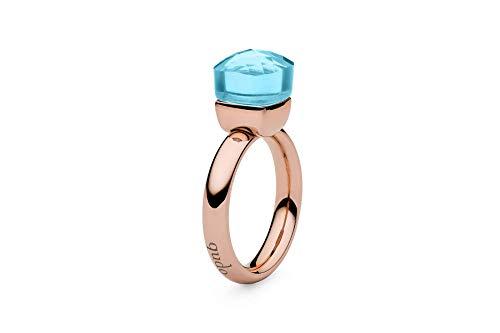 """Qudo""""Firenze"""" rose Ring mit aqua Stein (54 (17.2))"""
