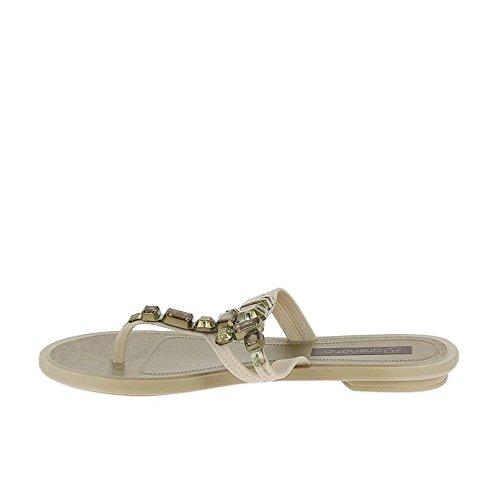 Vaniglia Di Grendha Lustro Thong Sandals Vaniglia