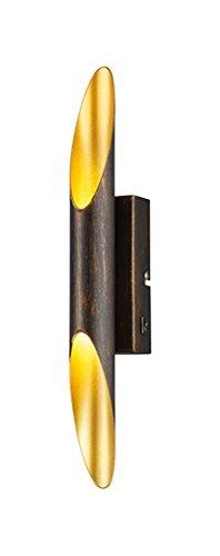 Trio Leuchten LED-Wandleuchte Bolero rostfarbig antik, innen goldfarbig 221570228
