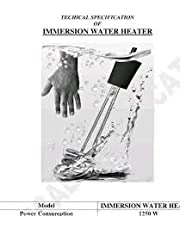 A & Y Shockproof/WATERPROOF 2000-W Metal Water Heater Immersion Rod, Black