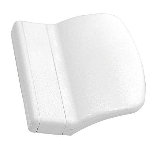 SILISTO 8329151 Balkontürgriff Weiß RAL 9016 Maße ca. 7,0 x 5,5 x 2,0 cm (Patio-tür-ersatz)
