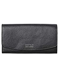 a226a1f8f735d ESPRIT Damen Geldbörse Portemonnaies Classic Flap Clutch Leder Schwarz  098EA1V023
