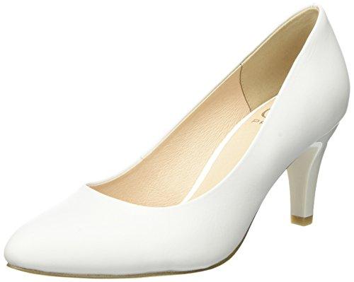 Caprice 22412, Escarpins Femme Blanc (White Nappa)