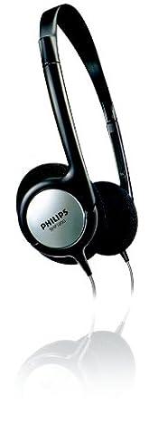 Philips SHP1800 Kabelgebundener Indoor-TV On-Ear-Kopfhörer (6m LR-Kabel, 6,3mm Adapter)