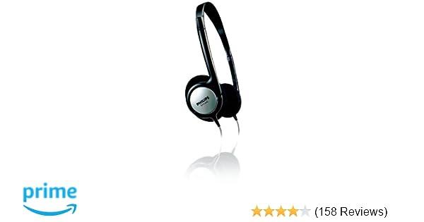 5b33d71900d Philips SHP1800/00 Indoor Corded TV Headphones - Black: Amazon.co.uk:  Electronics