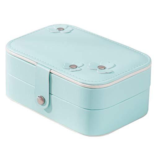 JianMeiHome Boîte à Bijoux Schmuck Aufbewahrungsbox Aufbewahrungsbox Portable Doppel Schmuck Box Ohrringe Kleine Schmuckschatulle