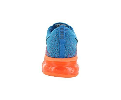 NIKE Flyknit Max Sneaker Freizeitschuhe Turnschuhe 620469 406 Blau/Rot/Orange