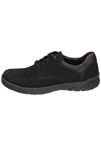 Waldläufer  Waldläufer Herren Schnürer, Chaussures de ville à lacets pour homme Noir Noir Noir