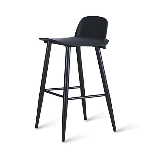 Zurück Bar Stuhl (LPZ Nordic Book Bar Stuhl Einfache Kreative Cafe Bar Stuhl Moderne Zurück Barhocker Bar Hohe Hocker V (Farbe : SCHWARZ, größe : L45CMXW43CMXH89CM))