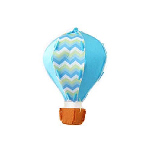 3D-Heißluft-Ballon-Geburtstags-Party-Dekorationen Decke hängt Garland für Kinderklassenzimmer Babyparty-Dekoration Ornament Blau 1 Stück