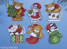 Design Works - Ornamentos de tela con diseños de gatitos (7,6 cm...