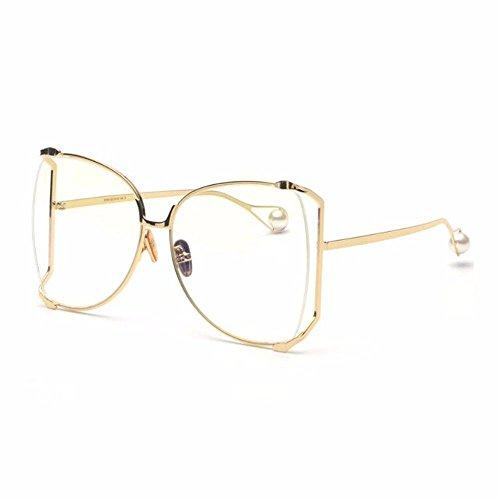 TYJshop Sonnenbrille Männer & Frauen Gradient Shade Persönlichkeit Gläser,Gold