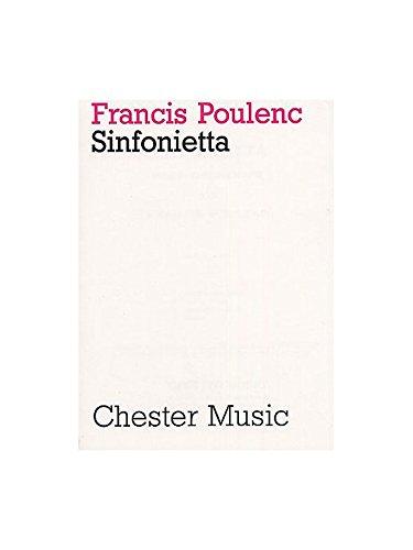Francis Poulenc: Sinfonietta. Sheet Music for Orchestra