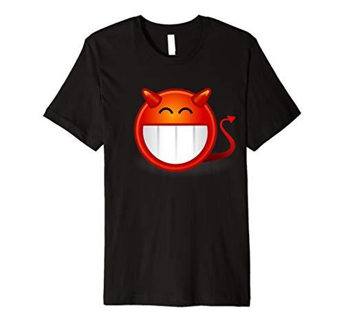 Devil Emoji-Scary Demon gruselige Kostüm T-Shirt