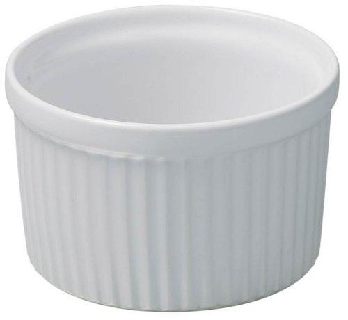 Revol 612511 Moule en porcelaine pour soufflé, dimensions : 6.5 cm, couleur : blanc